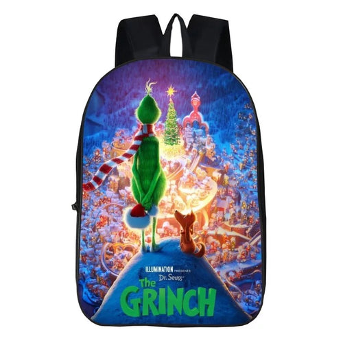 How The Grinch Stole Christmas Santa Grinch Backpack School Bag Group Sports Game Bags