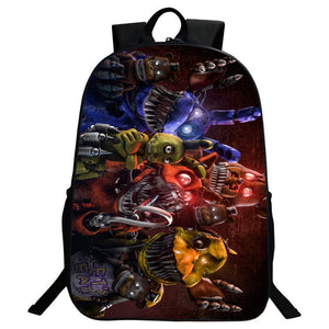 Five Nights at Freddy's BACKPACK FNAF New School Bag Group Sports Game Figure
