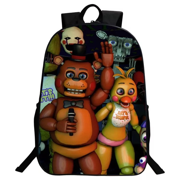 Five Nights at Freddy's BACKPACK FNAF New School Bag Group Sports Game Bag