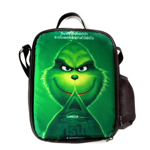 How The Grinch Stole Christmas Printed Single Shoulder Bag Boys Girls Large Capacity Lunch Bag