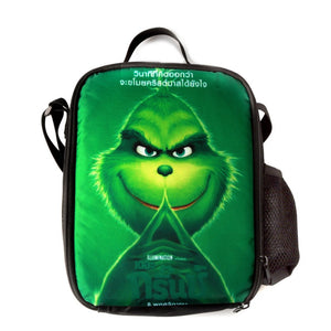 f47de90387 How The Grinch Stole Christmas Printed Single Shoulder Bag Boys Girls Large  Capacity Lunch Bag