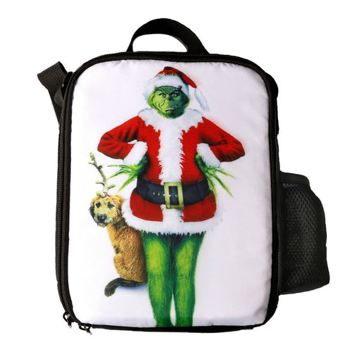 How The Grinch Stole Christmas Printed Single Shoulder Bag Boys Girls Large  Capacity Lunch Bag f99acba5dd642