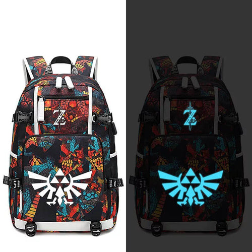 The Legend of Zelda #1 USB Charging Backpack School NoteBook Laptop Travel Bags