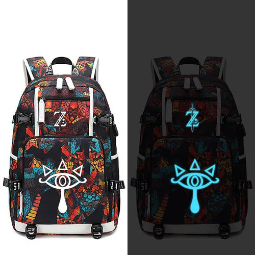 The Legend of Zelda #3 USB Charging Backpack School NoteBook Laptop Travel Bags