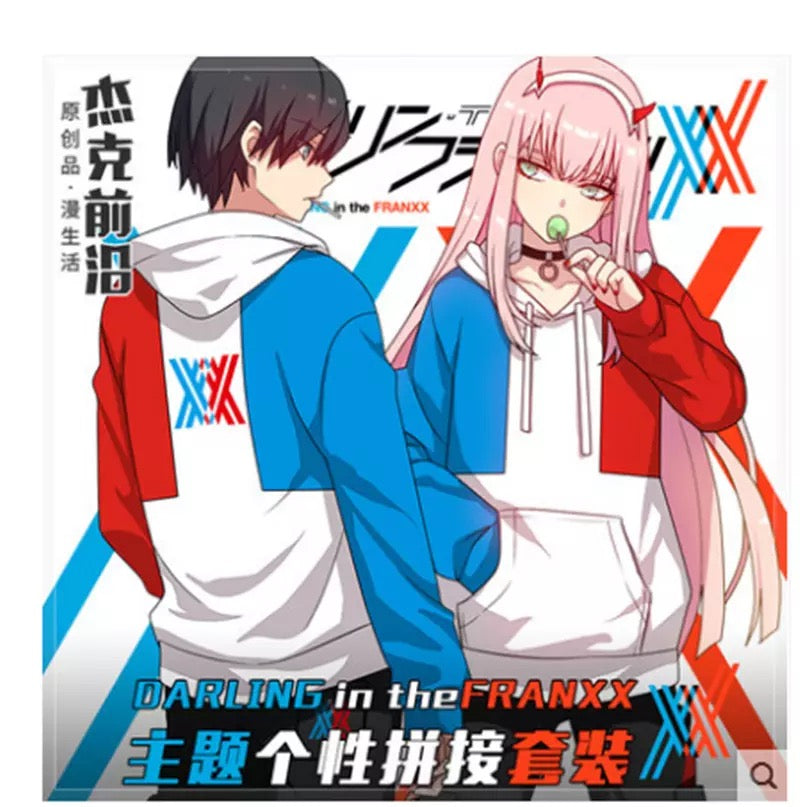 DARLING in the Franxx Code 002 Cosplay Hoodie Fake 2 pieces Hoodie Jacket
