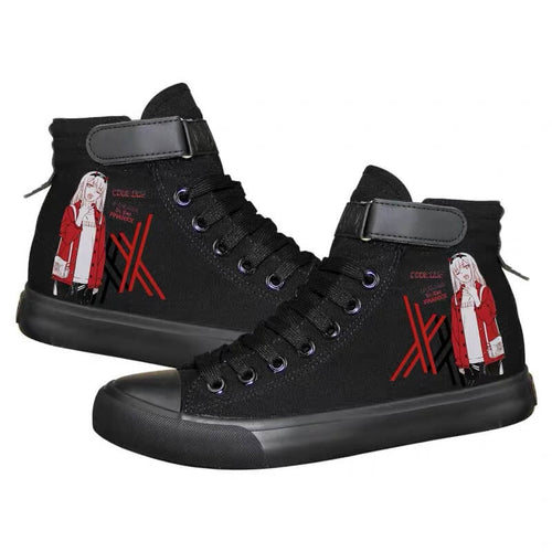 DARLING in the FRANXX Zero Two 02 #3 Cosplay Shoes High Top Canvas Sneakers