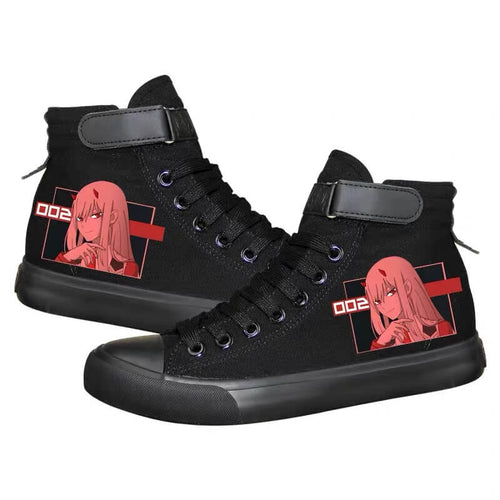 DARLING in the FRANXX Zero Two 02 #6 Cosplay Shoes High Top Canvas Sneakers