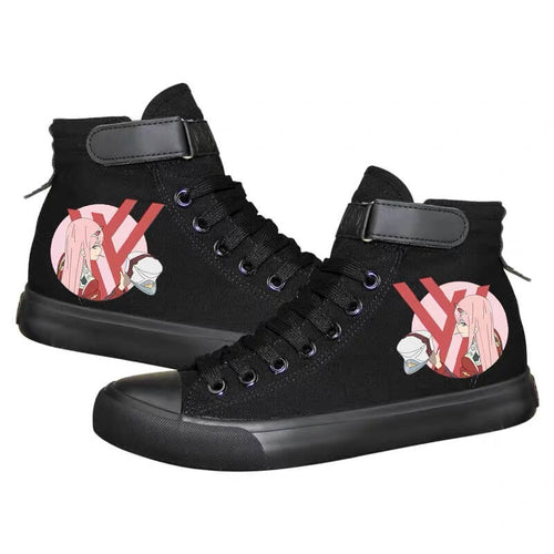 DARLING in the FRANXX Zero Two 02 #7 Cosplay Shoes High Top Canvas Sneakers