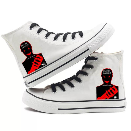 Game Dead By Daylight Trapper Cosplay Shoes High Top Canvas Sneakers For Kids Adults