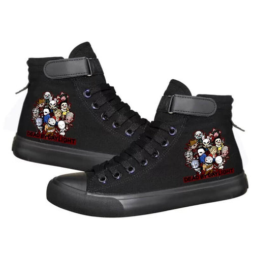 Game Dead By Daylight #4 Cosplay Shoes High Top Canvas Sneakers For Kids Adults