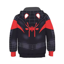 Load image into Gallery viewer, Spider-Man Into the Spider-Verse Miles Morales Cosplay Sweater Hoodie For Kids Boy