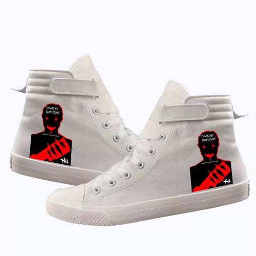 Game Dead By Daylight Trapper #3 Cosplay Shoes High Top Canvas Sneakers
