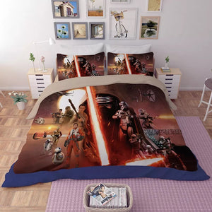 Star Wars Cosplay Bedding Set Duvet Cover Set Bedroom Set Bedlinen 3D Printing