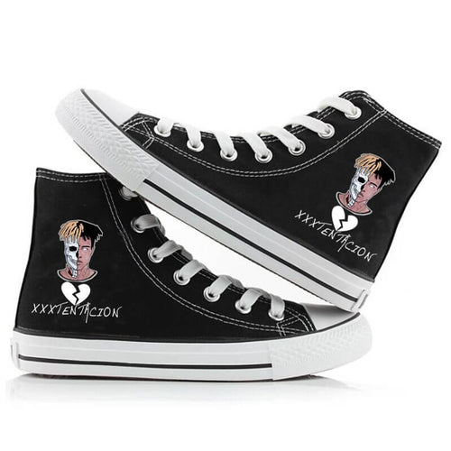 XXXTentacion HipPop Rock Rapper Fashion Shoes High Top Canvas Sneakers For Kids Adults