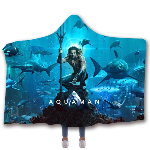 Aquaman  Arthur Curry Travel Coral Fleece Soft Custom Flannel Blanket For Sofa/Bed/Car Portable Throw