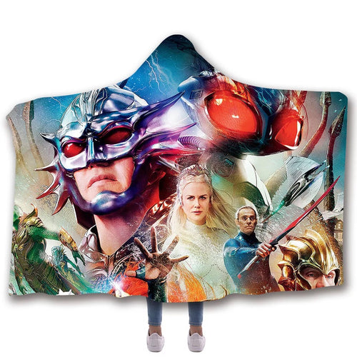 Aquaman Blankets Travel Coral Fleece Soft Custom Flannel Blanket For Sofa/Bed/Car Portable Throw