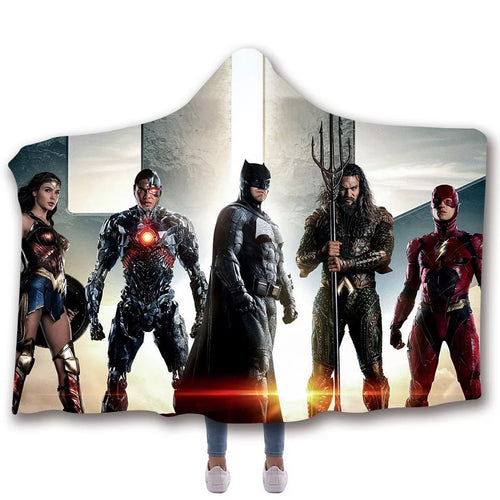Aquaman Batman Blankets Travel Coral Fleece Soft Custom Flannel Blanket For Sofa/Bed/Car Portable Throw