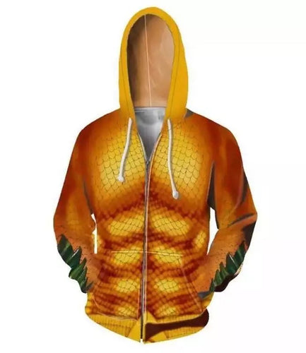 DC Aquaman Arthur Curry Jason Momoa Hoodies Adult Mens Pullover Casual Tops