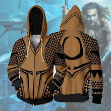 Load image into Gallery viewer, DC Aquaman Arthur Curry Jason Momoa Hoodies Adult Mens Pullover Casual Tops