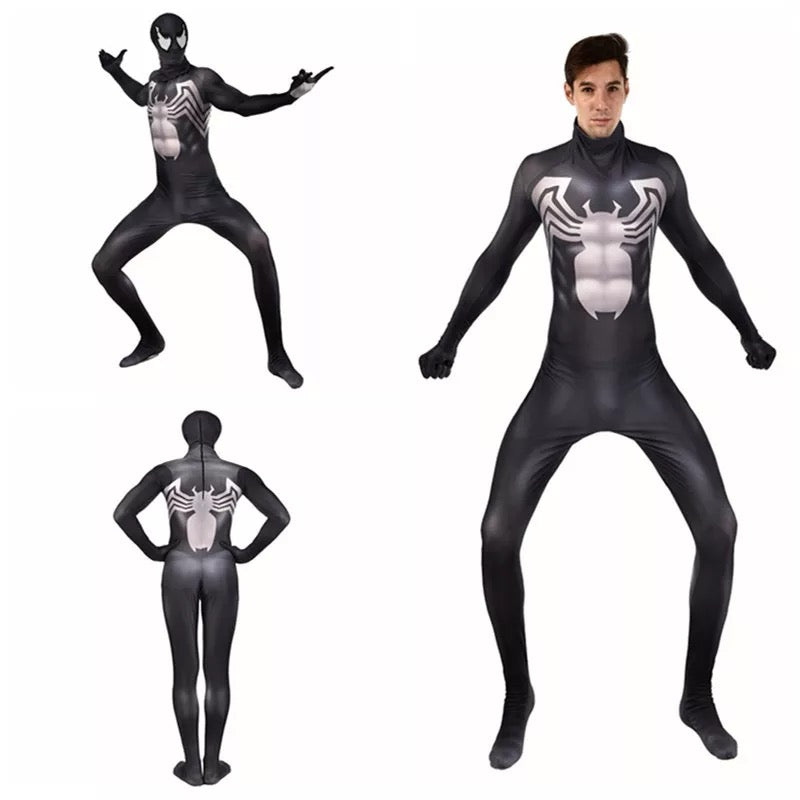 Movie Venom Spider-Man Cosplay Jumpsuit Halloween Cosplay Bodysuit