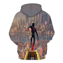 Load image into Gallery viewer, Spider-Man Into the Spider-Verse Miles Morales Cosplay Sweater Hoodie For Kids