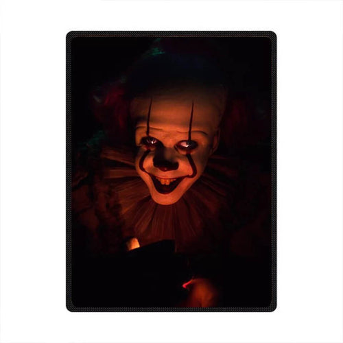 Horror Movie Pennywise IT Stephen King Clown #3 Cosplay Velvet Plush Throw Blanket Super Soft and Cozy Fleece Blanket