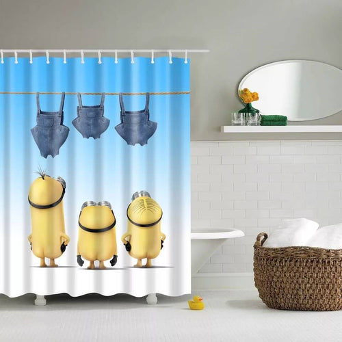Despicable Me Minions #1 Waterproof Shower Curtain
