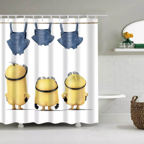 Despicable Me Minions #2 Waterproof Shower Curtain