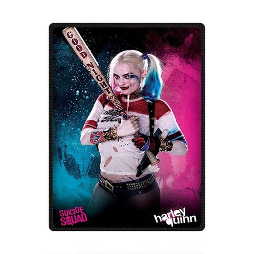 DC Comics Suicide Squad Harley Quinn #1 Cosplay Velvet Plush Throw Blanket Super Soft and Cozy Fleece Blanket