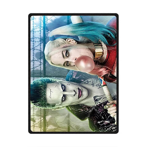 DC Comics Suicide Squad Harley Quinn The Joker #2 Cosplay Velvet Plush Throw Blanket Super Soft and Cozy Fleece Blanket