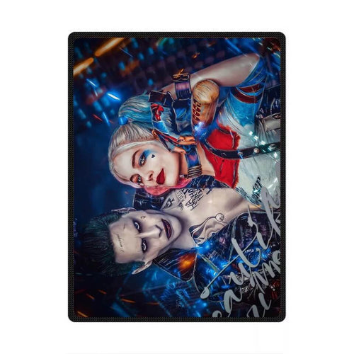 DC Comics Suicide Squad Harley Quinn The Joker #3 Cosplay Velvet Plush Throw Blanket Super Soft and Cozy Fleece Blanket