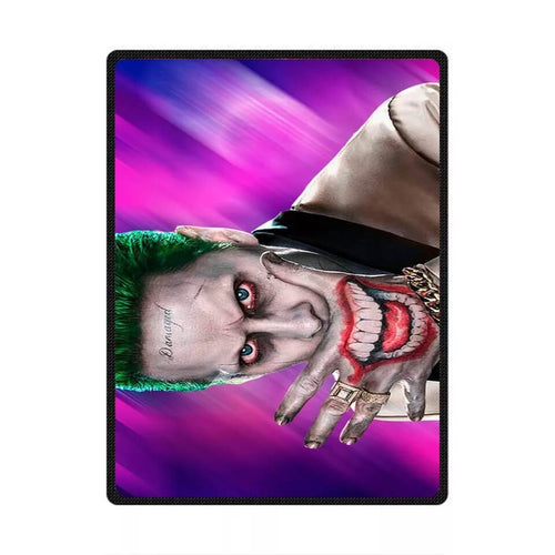 DC Comics Suicide Squad The Joker #6 Cosplay Velvet Plush Throw Blanket Super Soft and Cozy Fleece Blanket