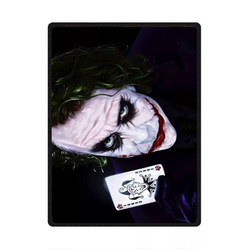 DC Comics Suicide Squad Harley Quinn The Joker #8 Cosplay Velvet Plush Throw Blanket Super Soft and Cozy Fleece Blanket