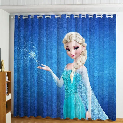 Frozen Princess Elsa Anna Blackout Curtains For Window Treatment Set For Living Room Bedroom
