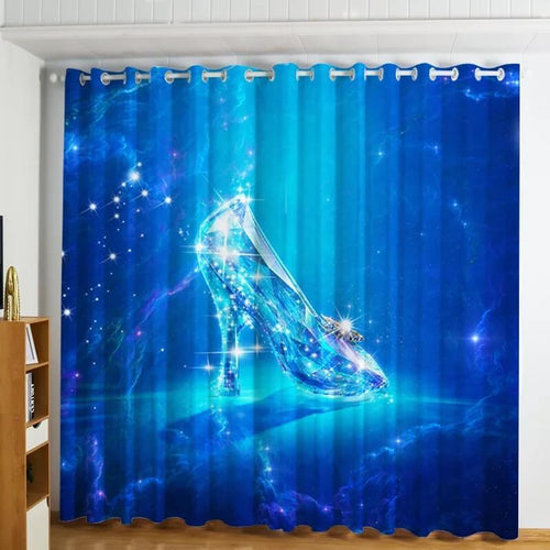 Frozen Princess Elsa #2 Blackout Curtains For Window Treatment Set For Living Room Bedroom