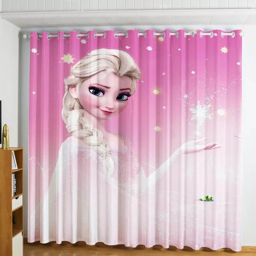 Frozen Princess Elsa #3 Blackout Curtains For Window Treatment Set For Living Room Bedroom