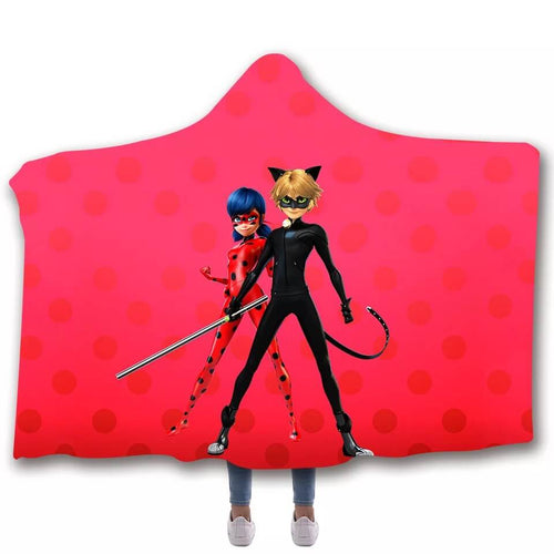 Miraculous Ladybug Milady #1 Cosplay Blankets Travel Coral Fleece Soft Throw