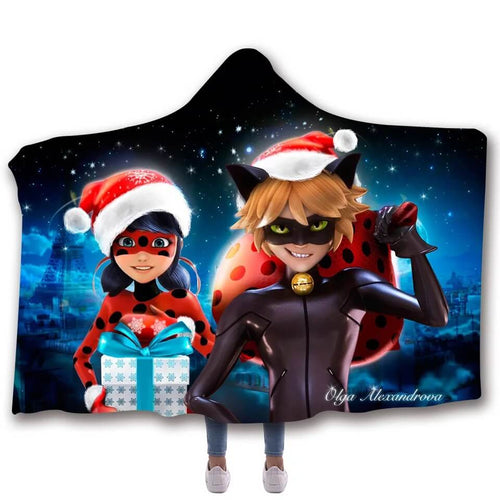 Miraculous Ladybug Milady Christmas #2 Cosplay Blankets Travel Coral Fleece Soft Throw