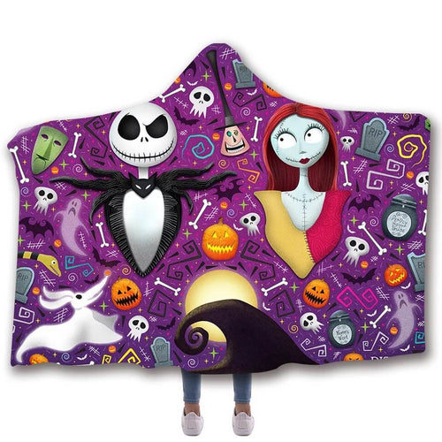The Nightmare Before Christmas #4 Cosplay Blankets Travel Coral Fleece Soft Throw