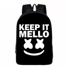 Load image into Gallery viewer, Keep It Mello Marshmello Backpack School Supplies Satchel Casual Book Bag School Bag for Kids Boy Girls Backpack Junior Bag