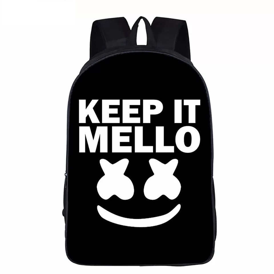 Keep It Mello Marshmello Backpack School Supplies Satchel Casual Book Bag School Bag for Kids Boy Girls Backpack Junior Bag