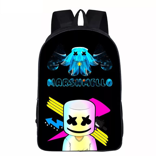 Martin Garrix 3D Marshmello Backpack School Supplies Satchel Casual Book Bag School Bag for Kids Boy Girls Backpack Junior Bag