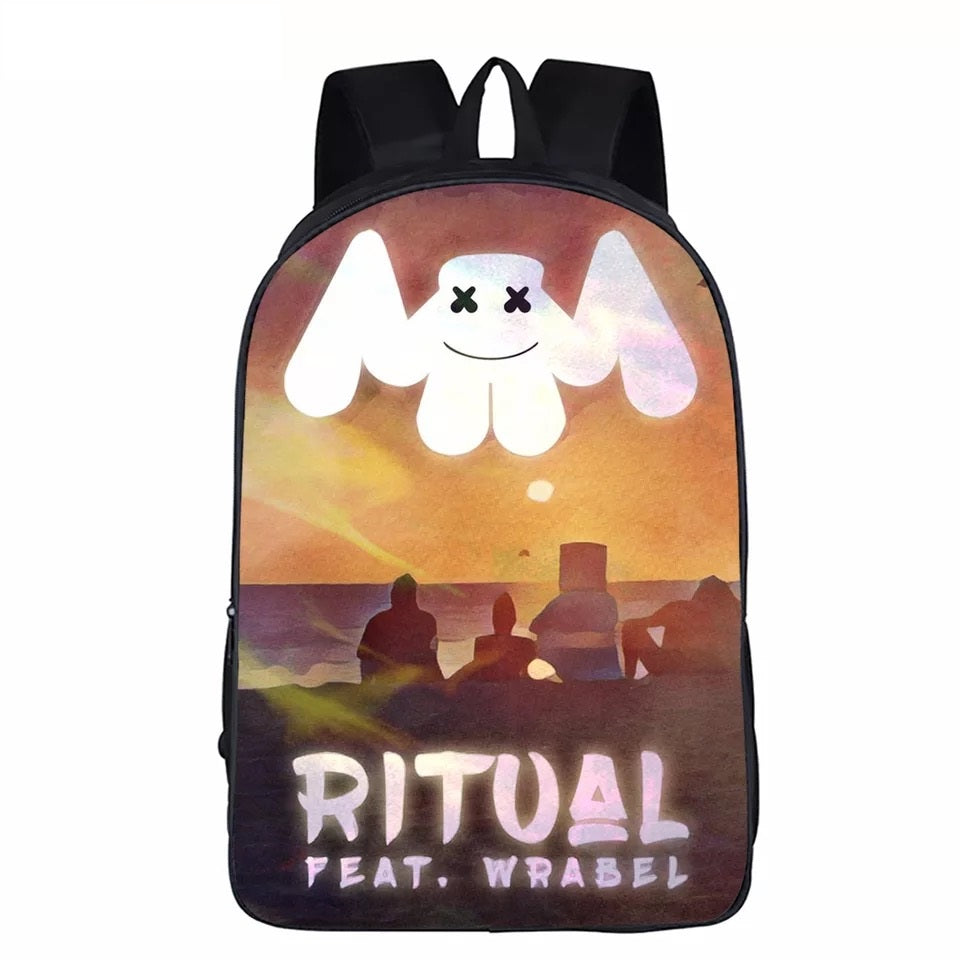 Ritual Feat Wrabel 3D Marshmello Backpack School Supplies Satchel Casual Book Bag School Bag for Kids Boy Girls Backpack Junior Bag