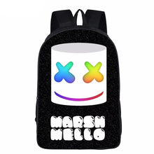 Load image into Gallery viewer, 3D Marshmello Backpack School Supplies Satchel Casual Book Bag School Bag for Kids Boy Girls Backpack Junior Bag