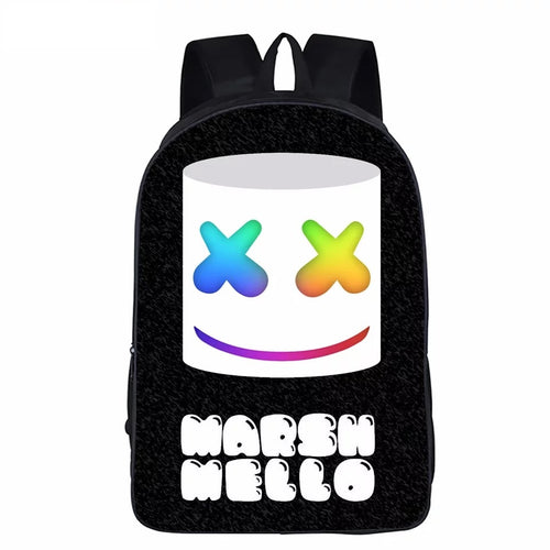 3D Marshmello Backpack School Supplies Satchel Casual Book Bag School Bag for Kids Boy Girls Backpack Junior Bag
