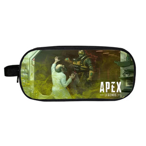 Game Apex Legends Caustic School Stationery Boys Pen Bag Print Pencil Case