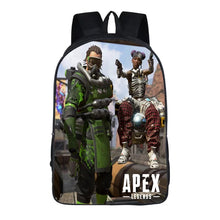 Load image into Gallery viewer, Game Apex Legends Caustic Lifeline Backpack School Supplies Satchel Casual Book Bag School Bag for Kids Boy Girls Backpack Junior Bag