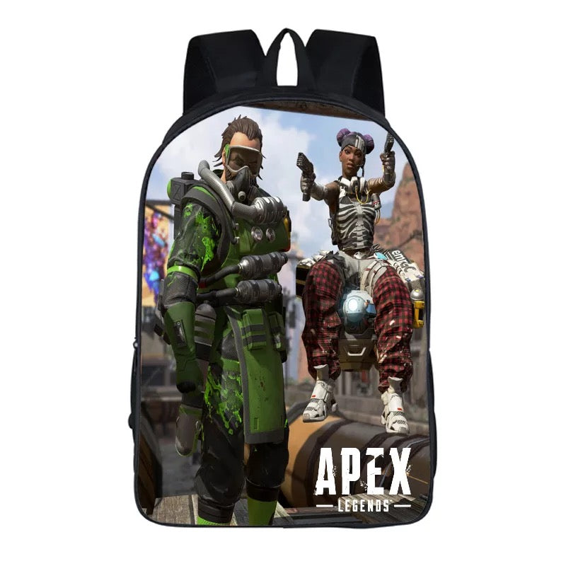 Game Apex Legends Caustic Lifeline Backpack School Supplies Satchel Casual Book Bag School Bag for Kids Boy Girls Backpack Junior Bag