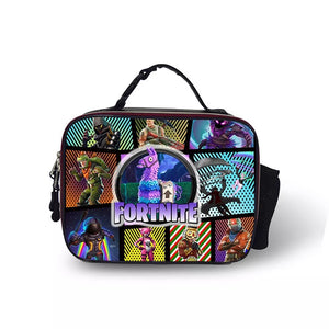 Fortnite Llama Portable Insulated Lunch Box School Carry Tote Storage Picnic Bag Case For Boy Kids