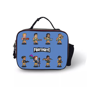 Fortnite Portable Insulated Lunch Box School Carry Tote Storage Picnic Bag Case For Boy Kids
